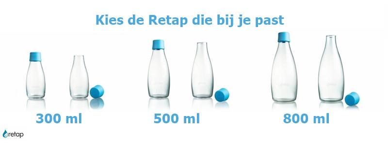 retap waterfles bedrukken, glazen waterfles met logo, design waterfles