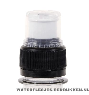 Waterfles bedrukken sportdop zwart, goedkope waterfles