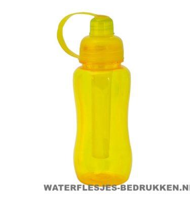 Bidon met koelvriespunt 600ml bedrukt geel