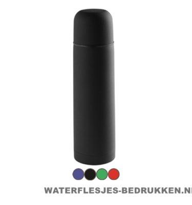 Thermosfles goedkoop 500ml bedrukken zwart met logo